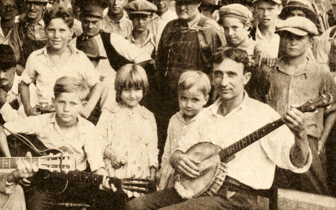 George Roark with children