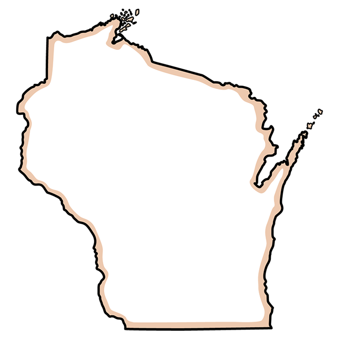 outline of state of Wisconsin