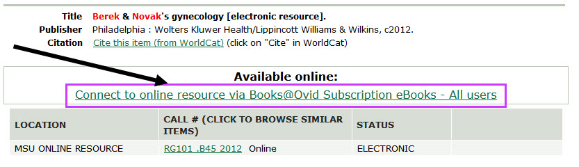 Books @ Ovid - Creating Stable Links to Medical Ebooks - LibGuides