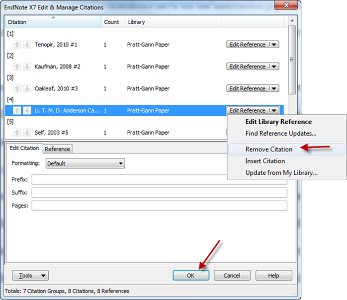 How do I delete an EndNote citation in a Word document? - LibAnswers