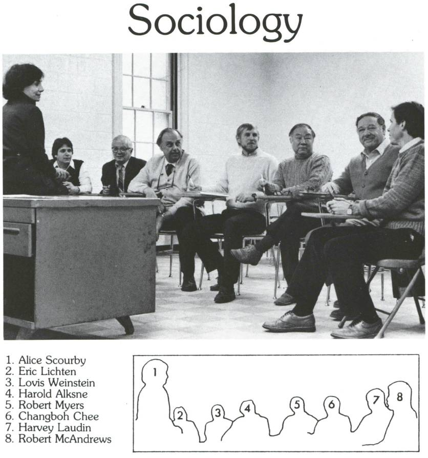Alice Scourby with the Sociology Faculty