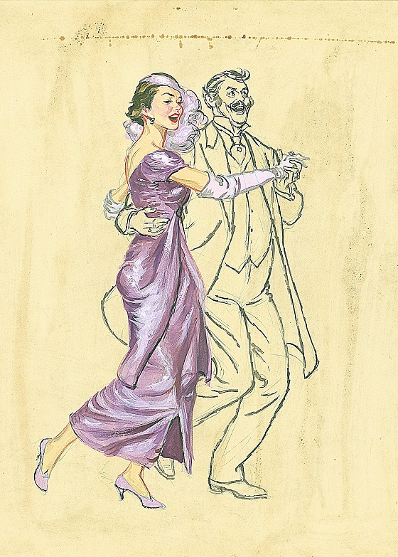 Dancing Couple, Watercolor, 1940s to 1950s