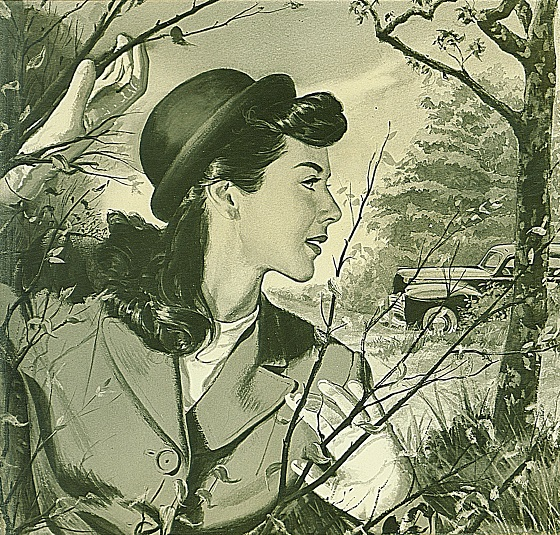 Photograph of George Withers' Illustration, Woman in the Woods