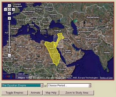 Map of digital archaeological atlas of the holy land