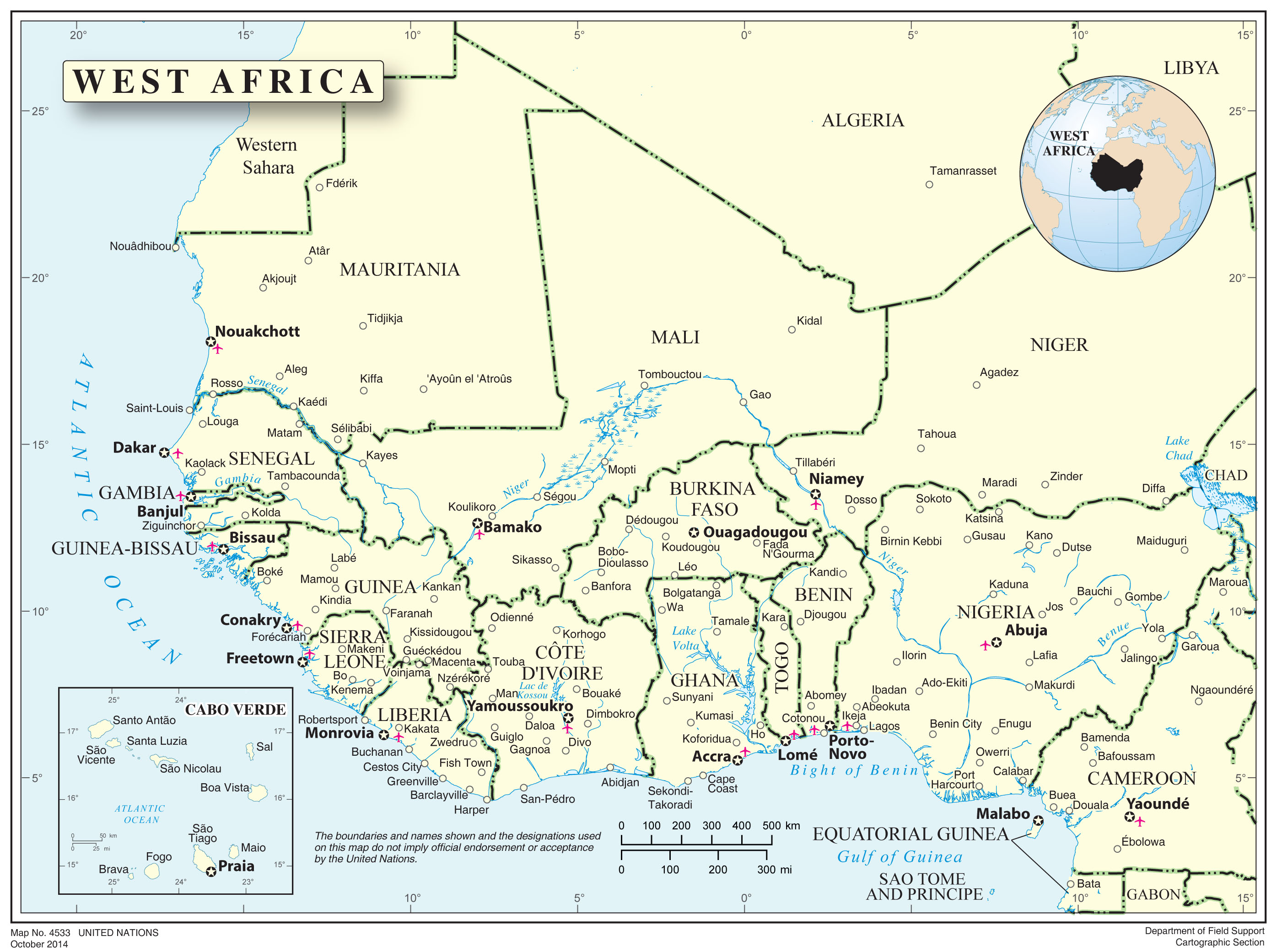 Home ebola africas response guinea liberia mali nigeria map of the west africa region gumiabroncs Image collections