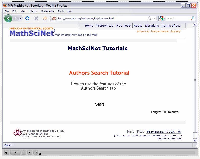 MR Author ID - MathSciNet (English) - LibGuides at Radboud
