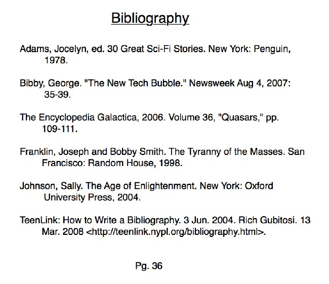 How do you write a bibliography
