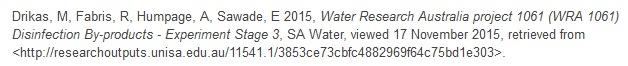 Data Citation example [Screenshot: UniSA Data Access portal, https://data.unisa.edu.au/Dataset.aspx?DatasetID=46021]