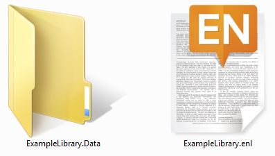 EndNote Data Folder and Library