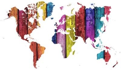 World map [Image source: Pixabay, https://pixabay.com/en/map-world-motley-rainbow-texture-1247143/, copied under CC0 1.0 Public domain dedication, https://creativecommons.org/publicdomain/zero/1.0/deed.en]