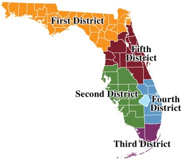 Florida Dca Map.District Courts Of Appeal Florida Trial Lawyers Research Guides