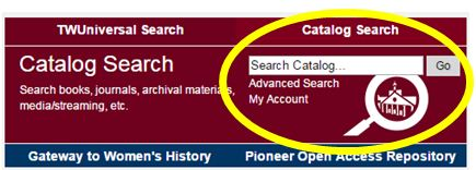 Catalog search graphic