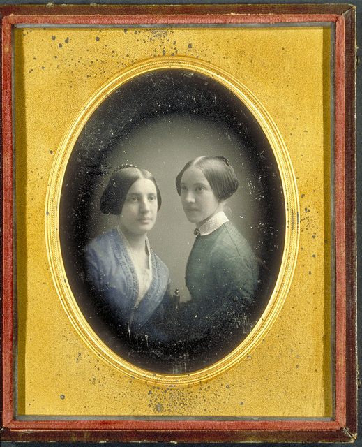 Portrait of Elizabeth Dwight Cabot and her sister Ellen Twisleton, ca. 1846-1850.