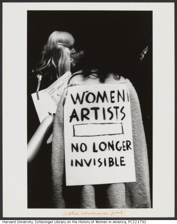 First protest by women against Museum of Modern Art