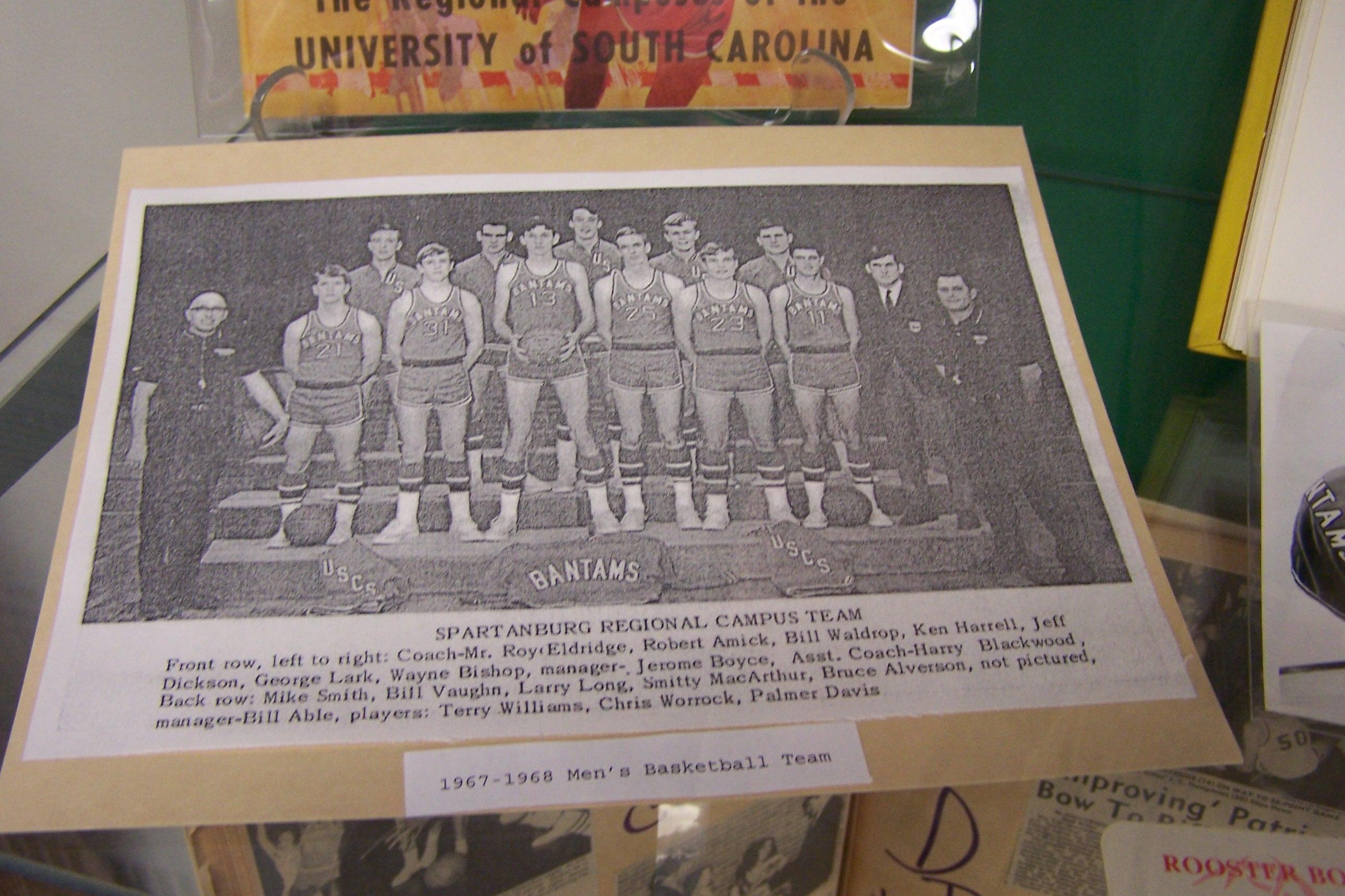 Close up of first Bantams basketball team photo