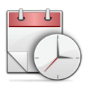 icon of clock and calendar