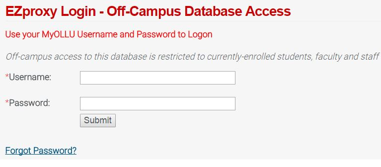 f Campus Database Access f Campus Database Access