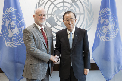 Peter Thomson and Ban Ki-Moon on 13 Sept 2016. UN Photo #682472