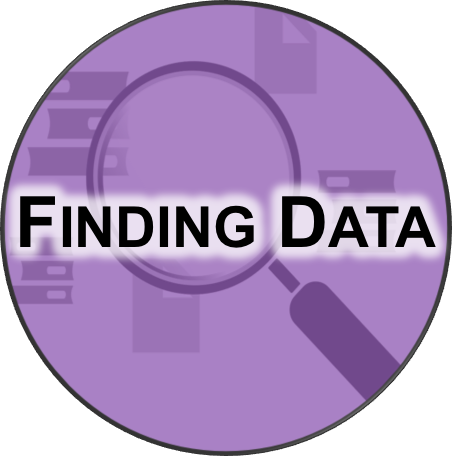 Icon for data finding services