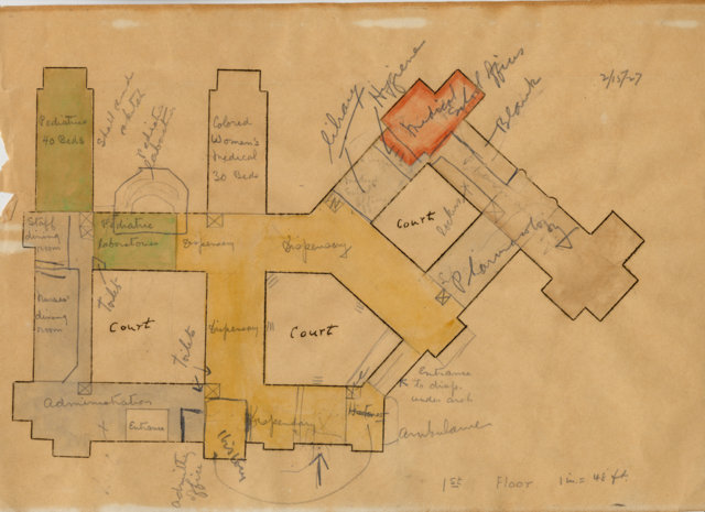 Early Hospital Floor Plan