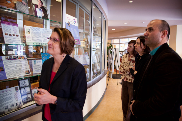 Speech and Hearing 40th Anniversary Exhibit International Visitors with Patsy Pierce, Copyright Robert Ladd Photographs