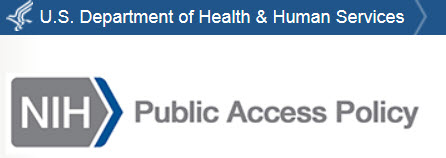 Logo for the NIH Public Access Policy