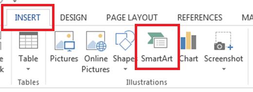 Insert Smart Art