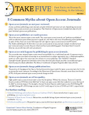 Thumbnail image of Fast Facts: Open Access Mythsd