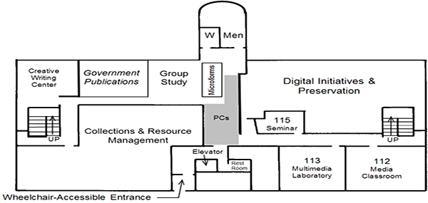 DML 1st floor plan
