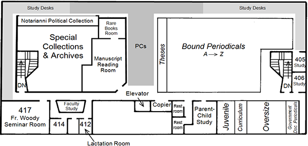 DML 4th Floor floorplan