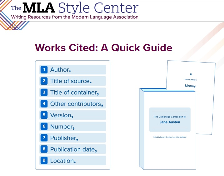 mla citation guidelines mohave community college libraries