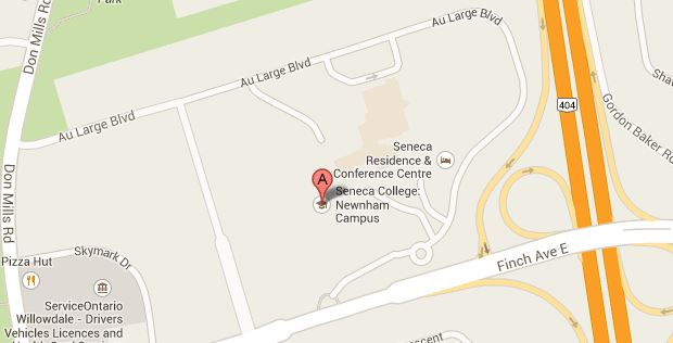 map of Newnham Campus, 404 and Finch