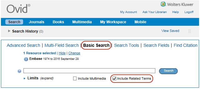 Screenshot Basic Search