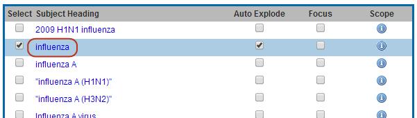 Screenshot Emtree terms suggestions