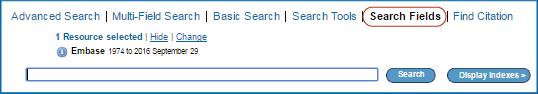 Screenshot Search Fields