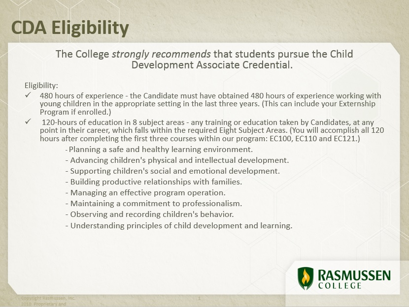 cda credential - *school of education* - guides at rasmussen college