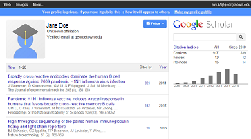 Google Scholar citations page