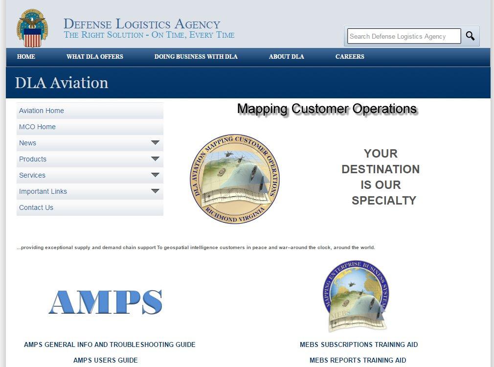 DLA Aviation Website Screenshot