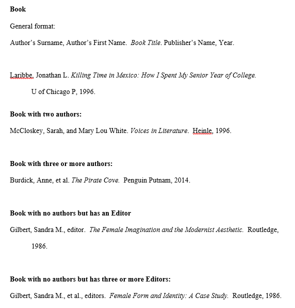 mla format work cited template - works cited page mla citation style 8th edition
