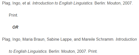 C More Than Three Authors Mla Citation Style 7th Edition
