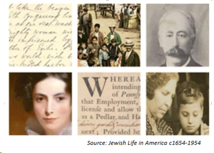 "Historical images from ""Jewish Life in America c1654 - 1954"""