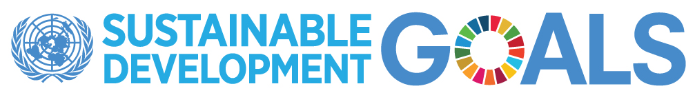"UN Logo with words ""Sustainable Development Goals"""