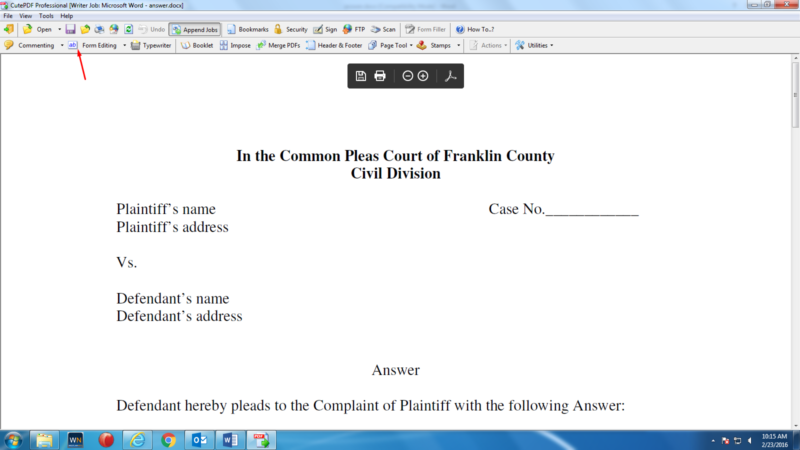 CutePDF - Creating Fillable Forms - LibGuides at Franklin