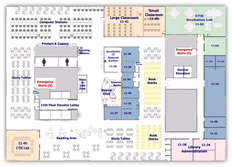 Facilities and Floorplan - Levy Library - Levy Library