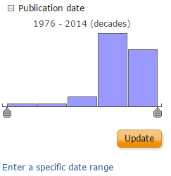 Screencapture of publication date limiter from ProQuest Central