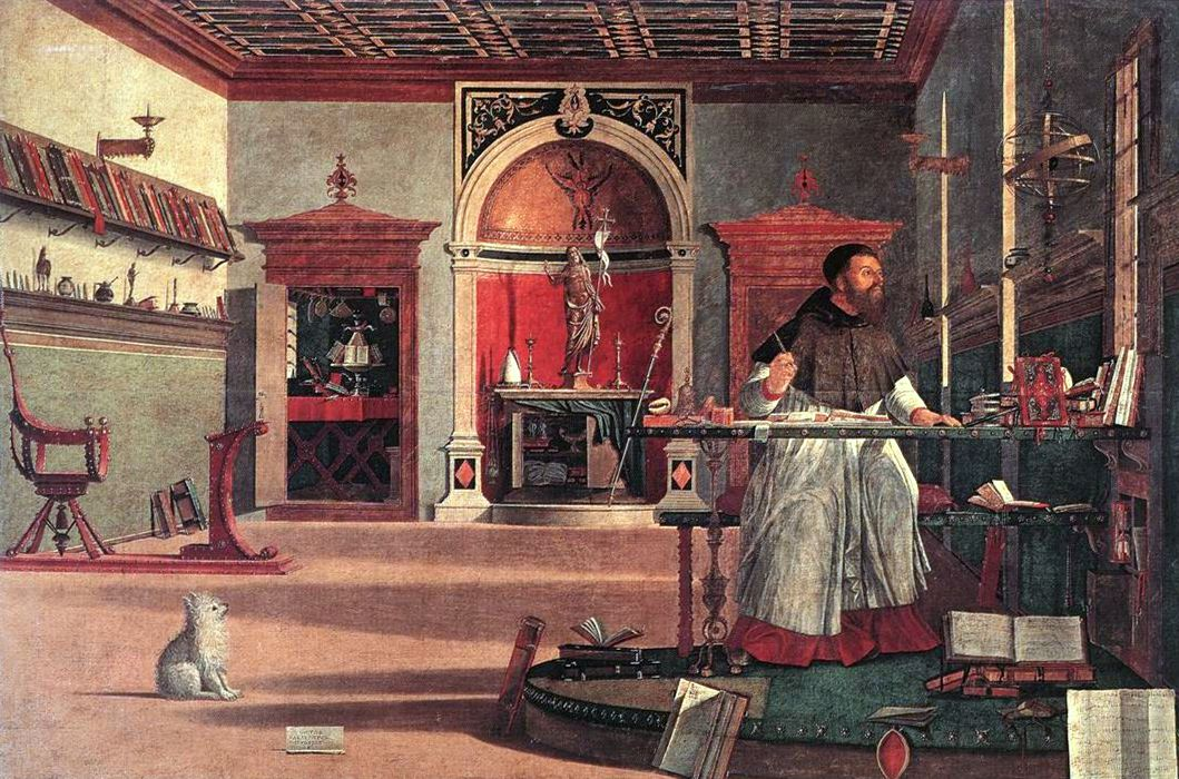 St. Augustine in His Study by Vittore Carpaccio, 1502-07