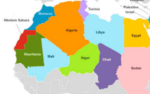 north africa map countries