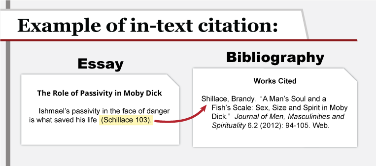 an example of an in text citation essay and a bibiography