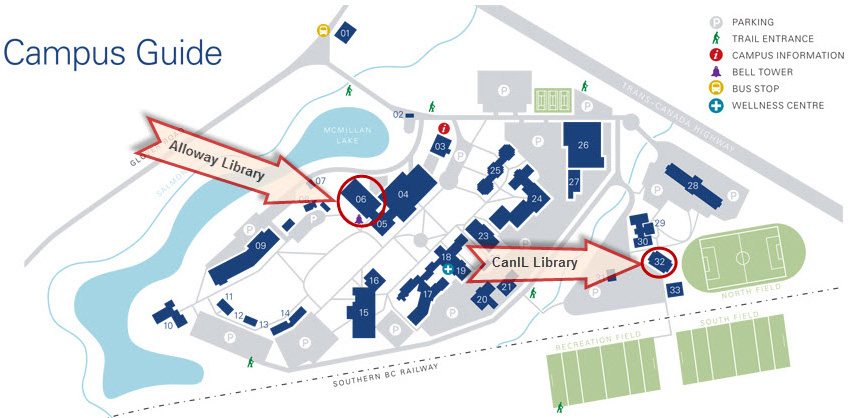 library campus map