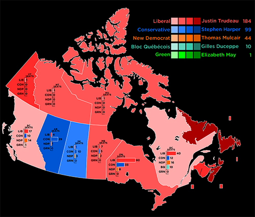 canada election map 2015